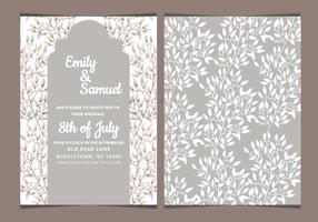Vector Neutral Tones Wedding Invitation