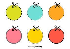 Ciseaux pointillées vectorielle Lines