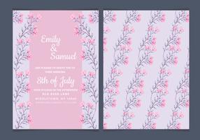 Vektor Elegante Rosen Hochzeits-Einladung