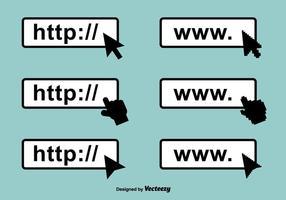 Iconos de vector de barra de direcciones
