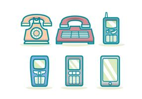 Tecnologia Phone Evolution Icon