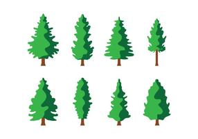 Vecteur libre des arbres à pins