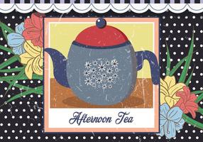 Afternoon Teapot Vintage Illustration