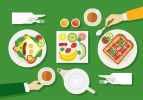 Teapot Breakfast Flat Free Vector