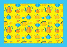 Teapot Pattern Free Vector