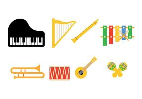 Muziek Instrument Icon Pack Vector