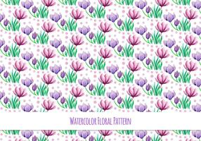 Free-vector-watercolor-pattern-with-beautiful-flowers