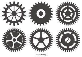 Cog formas vetoriais de rodas vetor