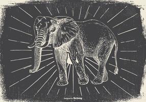 Weinlese-Elefant Illustration