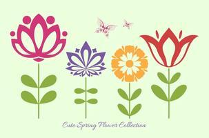 Formas lindo vector de la flor