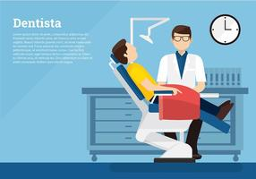 Dentista Template Gratis Vector