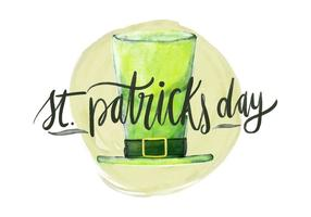 St. Patricks Day Aquarell Illustration