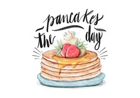 Pancake's Day Illustration
