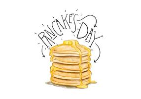 Pancake Day Illustration