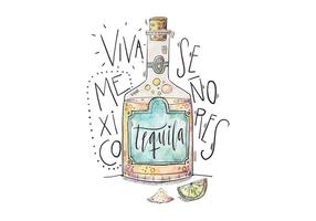 Mexique Tequila Illustration