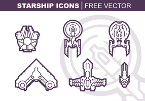 Starship Icons gratuito Pacote Vector