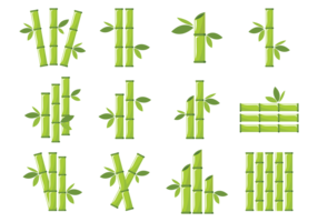 Bamboo Icons Vector