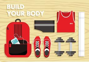 Dumbell Gym Set Free Vector
