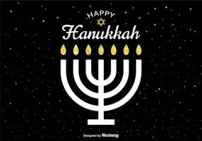 Vector Happy Hanukkah Card
