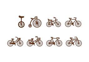 Bicicleta del icono del vector