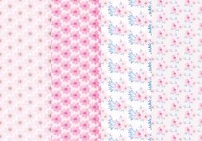 Vector Floral Spring Patterns