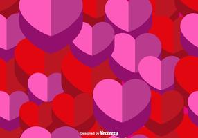 Vector 3d Heart Seamless Pattern
