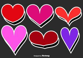 Vector Heart Stickers