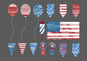 Vector 4th of July Elements
