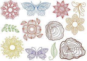 Ornamental Nature Vectors
