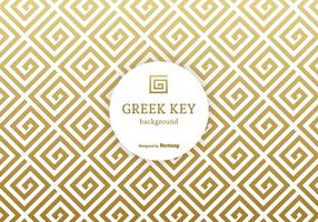 Golden Greek Key Vector Background