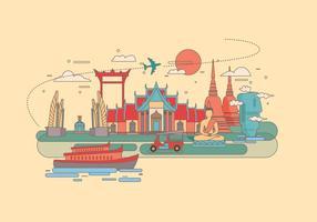 Bangkok oriëntatiepunt vector