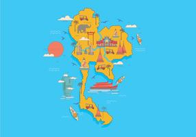 Vetor de mapa de bangkok