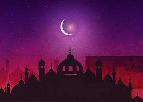 vector background di notti arabe