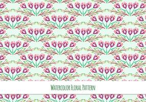 Free-vector-watercolor-pattern-with-spring-flowers