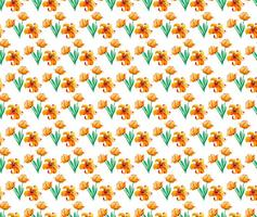 Free Vector Watercolor Pattern With Cute Yellow Flowers