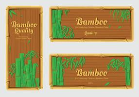 Banner etikett bambu vektor pack