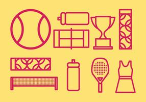 Tennis pictogrammen vector
