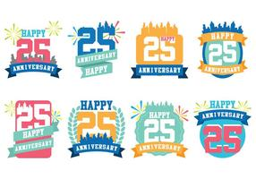 City Anniversary vector