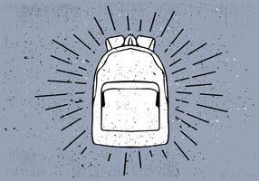 Mano libre dibujado fondo del vector del bolso de viaje