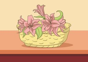 Easter Lily In The Bucket vector