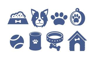 Border Collie Icons Vector