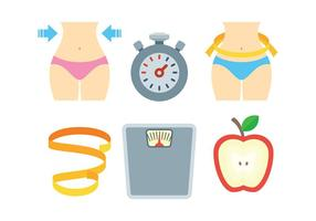 Free Slimming Icons Vector