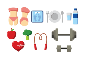 Slimming Icons Vector