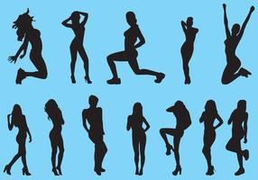 Silhouette Of Slimming Woman vector
