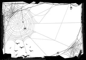 Halloween Seamless Background With Web Spider