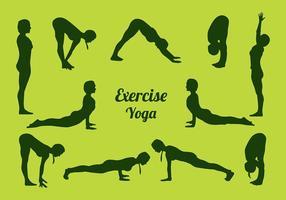 Siluetas yoga free vector