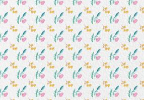 Free-vector-watercolor-spring-flowers-pattern