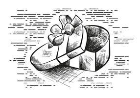 Freie Hand gezeichnet Valentinstag Vektor Hintergrund