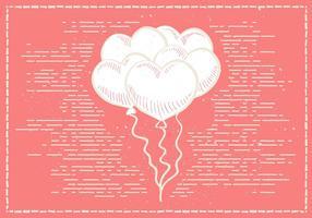 Mano libre dibujado vector de fondo de San Valentín