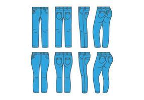 Blå Jean Vektorer